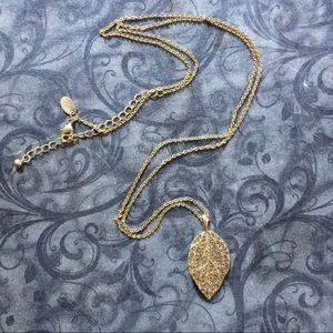 """Lia Sophia """"Effloressence"""" gold leaf necklace"""